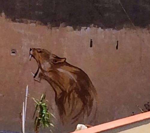 lioness mural